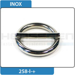 Ring with bar stainless steel