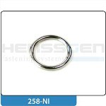 Ring normal Stahl vernickelt
