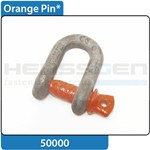Shackle orange pin with eyebolt HA1 DIN EN 13889:2003