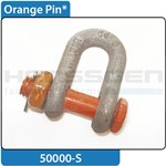 Shackle orange pin with pin HC1 DIN EN 13889:2003