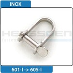 Shackle Inox flat straight shape