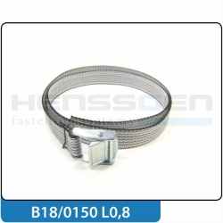 Belt system 18 mm with cam buckle